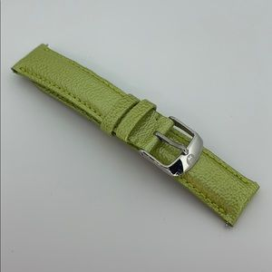Michele | 18mm Light Green Patent Leather Band